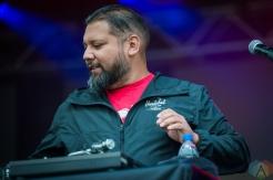 EDMONTON, AB – Aug. 6: DJ Shub performs at the Racetrack Infield in Edmonton, AB. on August 6, 2021. (Photo: Tyler Roberts/Aesthetic Magazine)