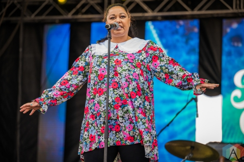 EDMONTON, AB – Aug. 7: Nuela Charles performs at the Racetrack Infield in Edmonton, AB. on August 6, 2021. (Photo: Tyler Roberts/Aesthetic Magazine)