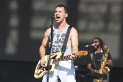 NEW YORK, NEW YORK - SEPTEMBER 25: Jack Antonoff of Bleachers performs during the 2021 Governors Ball Music Festival at Citi Field on September 25, 2021 in New York City. (Photo by Taylor Hill/Getty Images for Governors Ball)
