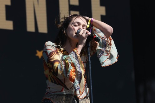 NEW YORK, NEW YORK - SEPTEMBER 25: Charlotte Lawrence performs during the 2021 Governors Ball Music Festival at Citi Field on September 25, 2021 in New York City. (Photo by Taylor Hill/Getty Images for Governors Ball)