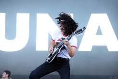 NEW YORK, NEW YORK - SEPTEMBER 25: Muna performs during the 2021 Governors Ball Music Festival at Citi Field on September 25, 2021 in New York City. (Photo by Taylor Hill/Getty Images for Governors Ball)