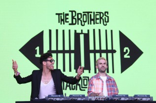 NEW YORK, NEW YORK - SEPTEMBER 25: A-Trak and Dave 1 of The Brothers Macklovitch during the 2021 Governors Ball Music Festival at Citi Field on September 25, 2021 in New York City. (Photo by Taylor Hill/Getty Images for Governors Ball)