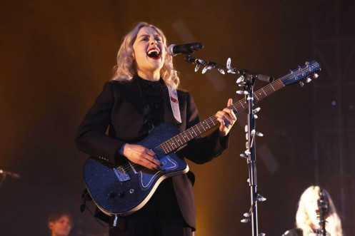 NEW YORK, NEW YORK - SEPTEMBER 25: Pheobe Bridgers performs during the 2021 Governors Ball Music Festival at Citi Field on September 25, 2021 in New York City. (Photo by Taylor Hill/Getty Images for Governors Ball)