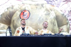 NEW YORK, NEW YORK - SEPTEMBER 26: DJ A-Trak and DJ Armand van Helden performs during the 2021 Governors Ball Music Festival at Citi Field on September 26, 2021 in New York City. (Photo by Taylor Hill/Getty Images for Governors Ball)