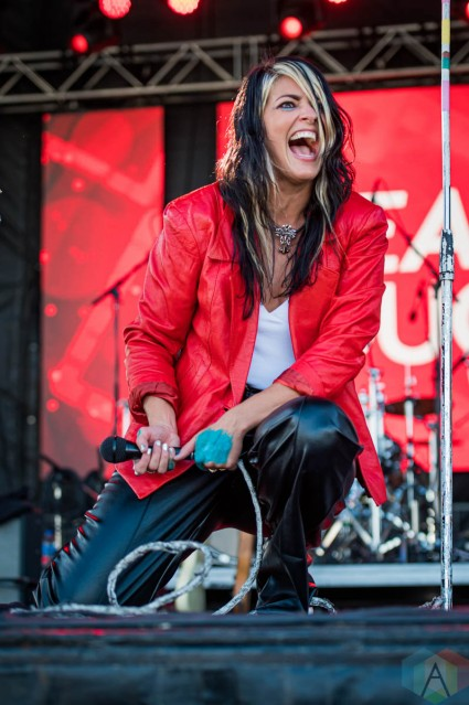 EDMONTON, AB – Sept. 5: Dear Rouge performs at the Racetrack Infield in Edmonton, Alberta. on September 5 2021. (Photo: Tyler Roberts/Aesthetic Magazine)