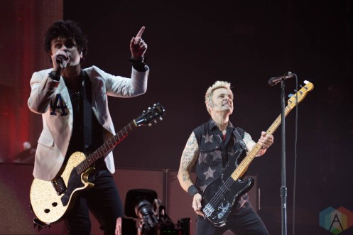 LOS ANGELES, CA - Sept. 03: Green Day performs at Dodger Stadium in Los Angeles, California on September 03, 2021. (Photo: Zoe Sher/Aesthetic Magazine)