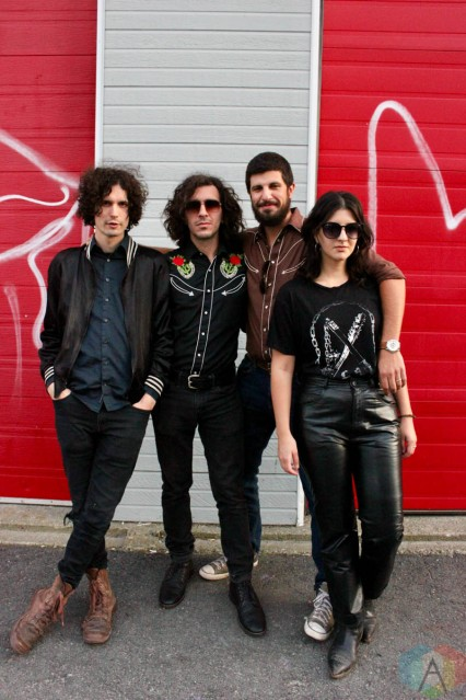 ROUYN-NORANDA, QC. - Sept. 02: Hot Garbage poses for a portrait at FME 2021 in Rouyn-Noranda, Qubec on September 03, 2021. (Photo: Curtis Sindrey/Aesthetic Magazine)