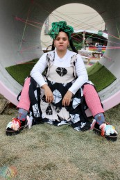 ROUYN-NORANDA, QC. - Sept. 02: Lido Pimienta poses for a portrait at FME 2021 in Rouyn-Noranda, Qubec on September 02, 2021. (Photo: Curtis Sindrey/Aesthetic Magazine)