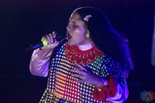 ROUYN-NORANDA, QC. - Sept. 02: Lido Pimienta performs at FME 2021 in Rouyn-Noranda, Qubec on September 02, 2021. (Photo: Curtis Sindrey/Aesthetic Magazine)
