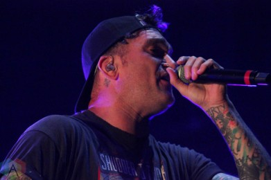 CHICAGO, IL - SEPT 19 - New Found Glory performs at Riot Fest in Chicago, Illinois on September 19, 2021. (Photo: Curtis Sindrey/Aesthetic Magazine)