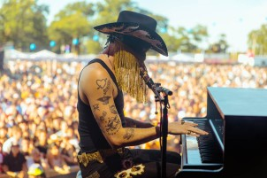 NEW YORK, NEW YORK: Orville Peck performs during the 2021 Governors Ball Music Festival at Citi Field in New York City. (Photo: Governors Ball)